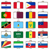 Resväska med flaggan Royaltyfria Foton
