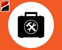 Resväska med hjälpmedlet Royaltyfria Foton