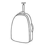 Resväska strukturerat bagage med ett handtag Royaltyfria Bilder