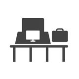 Resväskakontroll Arkivfoto