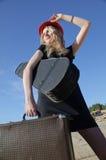 resväskakvinna Arkivfoton