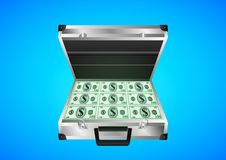 Resväskan med pengarna stock illustrationer