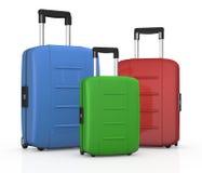 Resväskor vektor illustrationer
