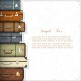 resväskor royaltyfri illustrationer