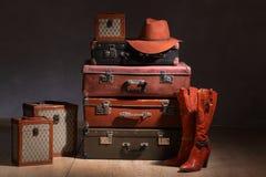 resväskor Arkivbilder