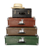 resväskor tre Arkivbilder