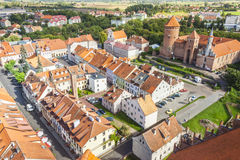 Reszel town - north part of Poland. Royalty Free Stock Photography