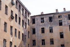 Resztki ściana rujnujący dom obraz royalty free