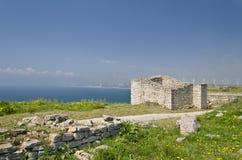 Resztki średniowieczny forteca obraz royalty free