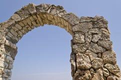 Resztki średniowieczny forteca fotografia royalty free
