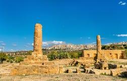 Resztki świątynia Vulcan w dolinie świątynie - Agrigento, Sicily fotografia royalty free