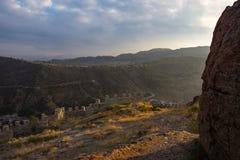 Resztki Afyonkarahisar fort w Turcja Zdjęcie Stock