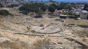 Resztki antyczny miasto nowożytny Cypr i obraz royalty free