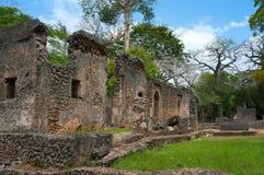 Resztki Gede w Kenja, Afryka Obrazy Royalty Free