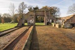 Resztki gospodarstwo rolne w Winterswijk w wschodzie holandie Obrazy Stock