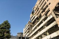 Resztki Jugosłowiański ministerstwo obrony, Belgrade, Serbia Zdjęcia Royalty Free