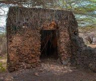 Resztki Takwa w Lamu okręgu w Kenja Zdjęcie Royalty Free