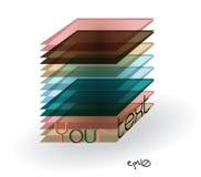Retângulo abstrato multicolorido do logotipo. Imagem de Stock