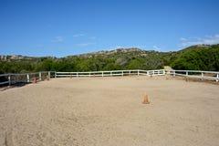 Retângulo do cavalo da escola de equitação fotos de stock