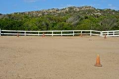 Retângulo do cavalo da escola de equitação foto de stock