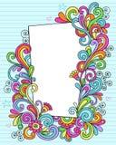 Retângulo do doodle do caderno ilustração royalty free