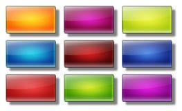 Retângulo #19 dos botões da Web Imagens de Stock
