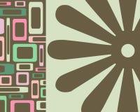 Retângulo retro e fundo floral Fotografia de Stock
