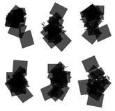 Retângulo transparente aleatório, dispersado, grupo de elemento quadrado ilustração do vetor