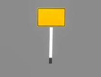 Retângulos amarelos dos sinais imagens de stock