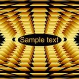 Retângulos dourados volumétricos abstratos no backgrou preto Imagem de Stock Royalty Free