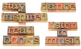 Retén inspirado - collage de motivación Foto de archivo libre de regalías