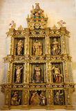 Retable in Burgos Cathedral, Spain Stock Images