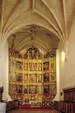 Retablo S del renacimiento XVI, abadía cisterciense de Cañas, La Ri Imagen de archivo