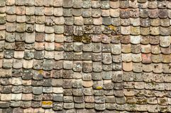Ancient terra cotta roof tiles texture. Retail of ancient terra cotta roof tiles texture Royalty Free Stock Photography