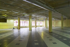 Retail area. Empty retail area in the trade center under construction Royalty Free Stock Image