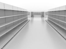 Retail backgrounds. Supermarket backgrounds - high res 3d rendering Royalty Free Stock Images