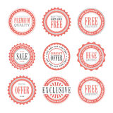 Retail Badges Royalty Free Stock Photos