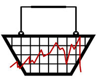 Retail bar graph Stock Images