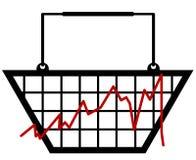 Retail bar graph Stock Images