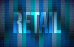 Retail binary sign concept illustration design Stock Image
