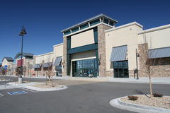 Retail Center. Newly Constructed Retail Strip Center stock photography