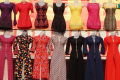 Retail clothes store- Mannequins. Retail clothes store exhibit womens dress products using Mannequins on February 4,2016 in Hyderabad,India stock images