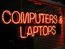 Retail Computer Store Royalty Free Stock Photos