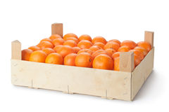 Retail crate of ripe tangerines Royalty Free Stock Images