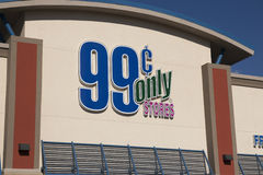 Retail Discount 99 Cent Stores. 99 Cent Only Store sign in front of a new 99 Cent Only Store in Arizona stock images