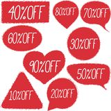 Retail discount proposition stickers set Royalty Free Stock Photo