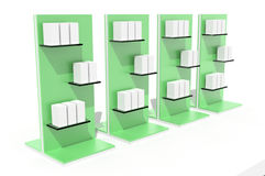 Retail display on white. Blank and empty trade displays on white, original design, 3d illustration vector illustration