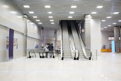Retail-entertainment complex Crocus City Hall escalators Stock Image