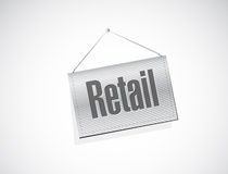 Retail hanging sign concept illustration Stock Images