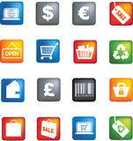 Retail icon set Stock Photos